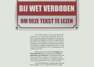 Advertentie Verboden te lezen De Standaard
