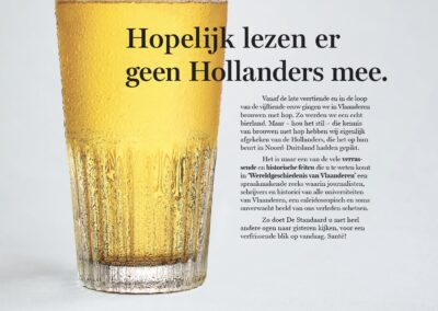 Advertentie Hollanders De Standaard